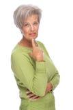 Thinking senior woman Royalty Free Stock Photos