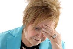 Thinking senior woman. Royalty Free Stock Photos