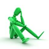 Thinking Shiny Green Stock Photo