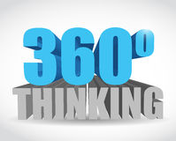 360 thinking sign illustration design. Over a white background Stock Image