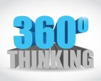 360 thinking sign illustration design Stock Image