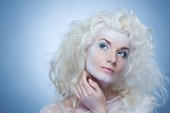 Thinking snow queen Royalty Free Stock Photography