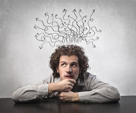 Thinking a Solution Royalty Free Stock Photos