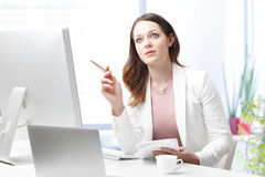 Thinking about solution Stock Images