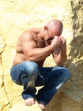 Thinking Strong Man Royalty Free Stock Images