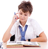 Thinking student Stock Images