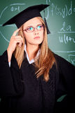 Thinking student Royalty Free Stock Images