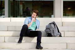 Thinking student Stock Photo