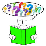 Thinking Studying Means Reading Learn And Considering. Reading Studying Indicating Think About It And Considering Learn Stock Images