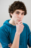 Thinking teen boy Royalty Free Stock Image