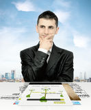 Thinking of tomorrow business stock images