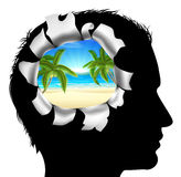 Thinking of a Tropical Vacation Stock Image