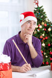 Thinking about wishes Royalty Free Stock Image