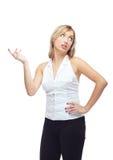 Thinking woman Stock Image