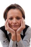 Thinking woman Royalty Free Stock Image
