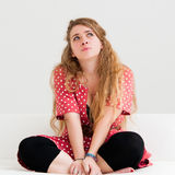 Thinking woman Royalty Free Stock Photo