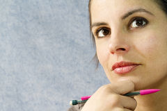 Thinking woman Stock Photography