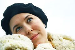 Thinking woman Royalty Free Stock Photography