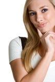 Thinking Woman. Beautiful thinking blond business woman Stock Images