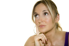 Thinking Woman Royalty Free Stock Images
