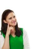 Thinking woman portrait Royalty Free Stock Photo