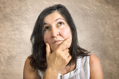 Thinking woman Royalty Free Stock Image