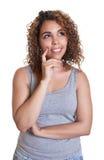 Thinking woman from Venezuela Stock Photos