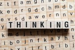 Thinking word concept stock photo
