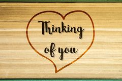 Thinking of you - card royalty free stock image