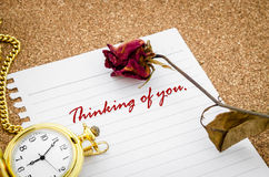 Thinking of you. Royalty Free Stock Images