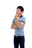 Thinking young Asian man Royalty Free Stock Images