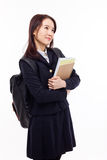 Thinking young Asian student Stock Images
