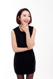 Thinking young Asian woman Stock Photography