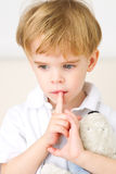 Thinking young boy Royalty Free Stock Photo