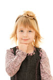 Thinking young girl Stock Images