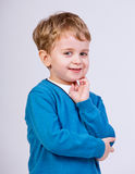 Thinking young kid stock photos