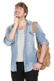 Thinking young male student Royalty Free Stock Photos