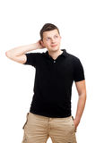 Thinking Young Man Stock Image