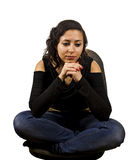 Thinking young woman Royalty Free Stock Photography