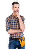 Thinking about your problem. Stock Photo