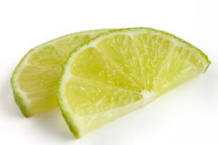 Thinly cut lime slices Royalty Free Stock Photos