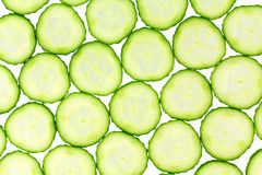 Thinly slice cucumber background Royalty Free Stock Photo