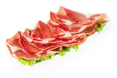 Thinly sliced ​​ham Royalty Free Stock Photography