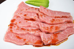 Thinly sliced beef Stock Image