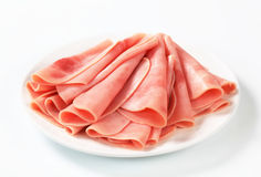 Thinly sliced ham Royalty Free Stock Images