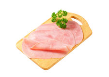 Thinly sliced ham Stock Photography