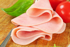 Thinly sliced ham Royalty Free Stock Photo