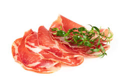 Thinly sliced ​​ham Royalty Free Stock Image