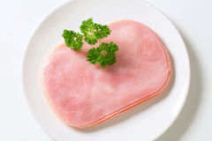 Thinly sliced ham Royalty Free Stock Photography