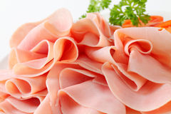 Thinly sliced ham Royalty Free Stock Image